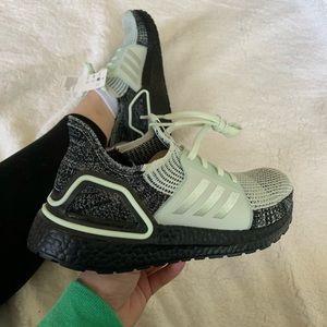 "Adidas Ultraboost '19 ""Linen Green"" Sneakers"